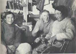 Bartlett on board ship with Inuit Hunters
