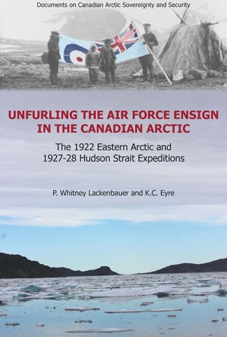 Unfurling the Air Force Ensign in the Canadian Arctic