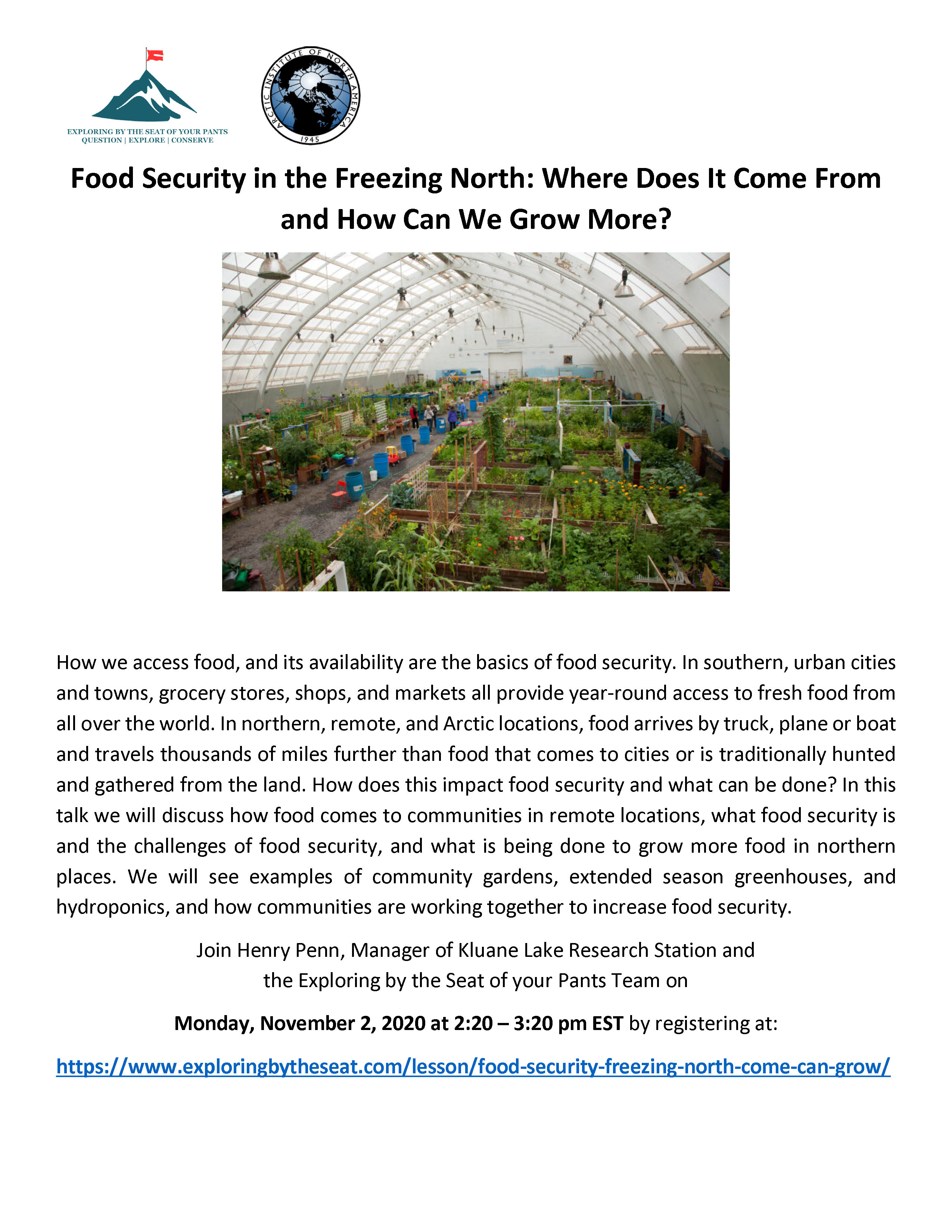 Food Security in the Freezing North